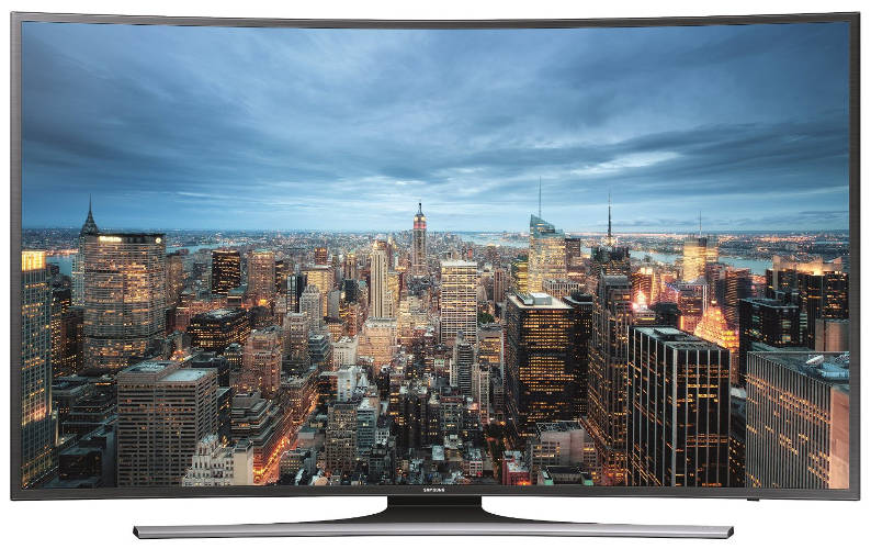 Samsung JU6550 121 cm (48 Zoll) Curved Fernseher (Ultra HD, Triple Tuner, Smart TV)